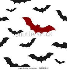vector bat pattern on white seamless pattern stock vector