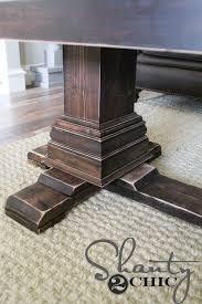 Coffee Table Pedestal Diy Pedestal Coffee Table Shanty 2 Chic
