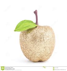 golden apple ornament stock photo image 13141458