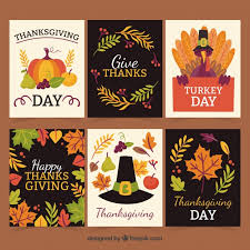 seis creativas tarjetas de thanksgiving descargar vectores gratis
