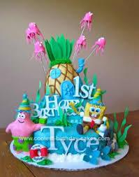 spongebob birthday cake coolest sponge bob 1st birthday cake