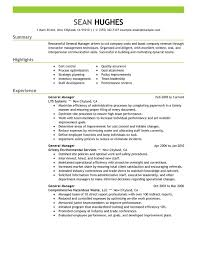 Sales Manager Resume Templates Resume Examples Templates Very Best General Manager Resume