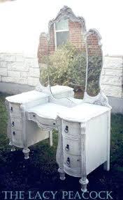Vintage Vanity Table Vanities Vintage White Vanity Table With The Antiqued Character