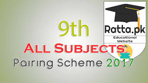 matric 9th pairing sheme assessment scheme 2017 all subjects