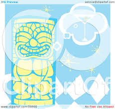 martini clipart no background royalty free rf clipart illustration of a yellow tiki carving