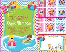 birthday pool party invitations free ajordanscart com