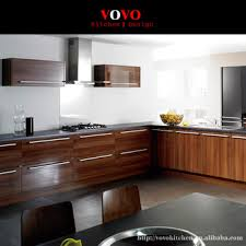 Wood Veneer For Kitchen Cabinets by High Gloss Wood Veneer L Shape Kitchen Cabinet Buy Wood Veneer L