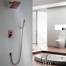 rain shower head system modern wall mount rain showerhead u0026 hand shower system brass in