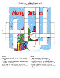 christmas holiday crossword puzzle http www kidscanhavefun com