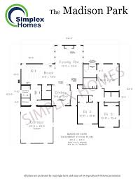 House Plans Washington State Simplex Homes Madison Park Ranch Modular Homes
