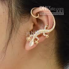 earrings cuffs lizard ear cuffs fashion opal earrings personality genuine gold