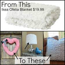 3 items made from ikea ofelia blanket sweet charli