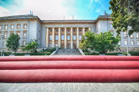 bureau ville la grand wroclaw pologne 14 août 2017 and lech kaczynscy boulevard