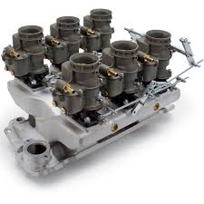 edelbrock 2018 vintage 94 series six carb u0026 manifold kit for sbc