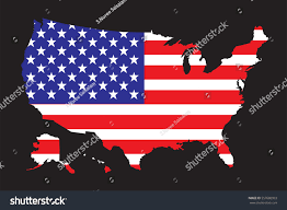 United States Of Anerica Map by United States America Map Flag Vector Stock Vector 557680993