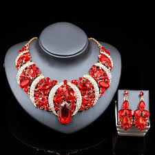drop beads necklace images Parure bijoux femme nigerian wedding beads african jewelry gold jpg