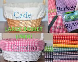 easter basket liners personalized easter basket liner etsy