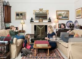 in livingroom caucasian family in livingroom stock photo getty images