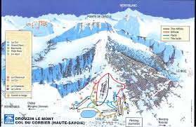 Ski Resorts In Colorado Map by Lastest Piste Map For Drouzin Le Mont Ski Resort Near Portes Du
