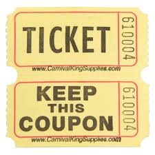 raffle tickets carnival king yellow 2 part raffle tickets 2000 roll