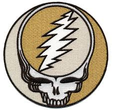 grateful dead xl steal your face gold sparkle patch gypsy rose