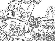 simpson coloring pages bart simpson hold a pencil simpsons coloring pages pinterest