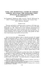 viral and rickettsial causes of cardiac disease including the