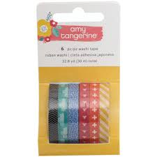 6 rolls of slim washi tape plan with me pinterest amy tan