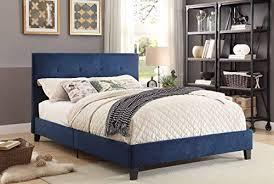 Tufted Headboard And Footboard Homelegance Upholstered Eastern King Platform Bed Frame W Tufted