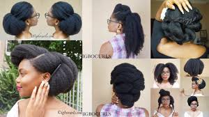 best natural hairstyles on black 4c natural hair 08 youtube