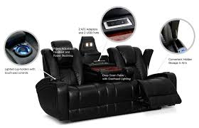 Powered Reclining Sofa Zander Bonded Leather Power Reclining Sofa Black The Brick