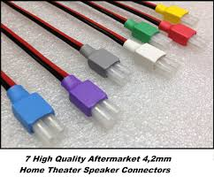 top ten home theater brands 7x 4 2mm colored home theater speaker connectors fits most popular