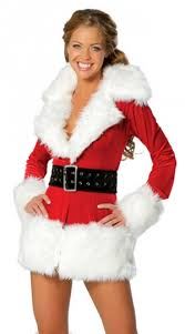 womens santa costume womens sleeve fur christmas santa costume costumescenter