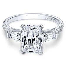white emerald rings images Emerald cut engagement rings gabriel co jpg