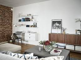 swedish open plan apartment with a lovely terrace daily dream decor