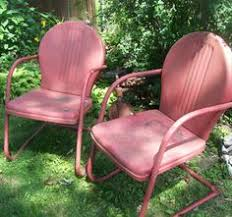 Retro Metal Patio Chairs Buy Retro Metal Lawn Furniture Here Bellaire Metal Lawn Chair