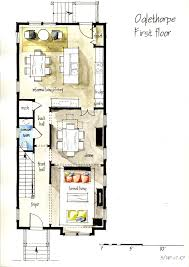 real estate watercolor 2d floor plans part 1 on behance tiny