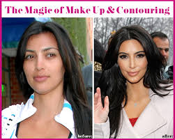 contouring before and after kardashian
