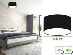 Led Deckenbeleuchtung Wohnzimmer Led Deckenlampe Rund Stoffschirm Satinierte Abdeckung Wohnzimmer