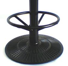 bar height table base with foot ring bar height table base with foot ring metal table base round radiant