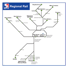 Septa Rail Map Septa Maps