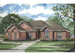 brick house plans with photos fernleaf ranch home plan 055d 0205 house plans and more
