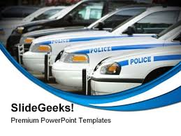 police cars government powerpoint themes and powerpoint slides