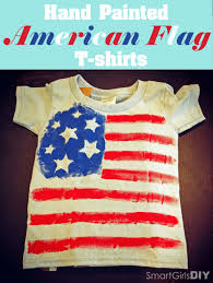 How To Paint American Flag 4th Of July T Shirts Super Easy Tutorial