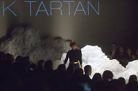toronto fashion week pink tartan rises above the clouds toronto