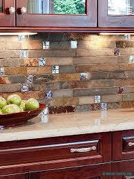 slate kitchen backsplash brown and gray color mix unique slate kitchen backsplash