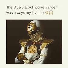 Black Power Ranger Meme - blue and black power ranger thedress what color is this dress