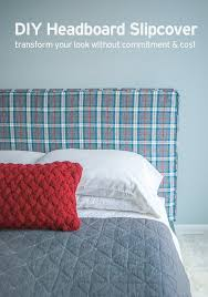 how to make a headboard slipcover with no sew piping easy and