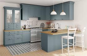 cuisine camelia but bleu bois inspiration decoration maison