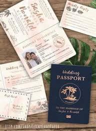 destination wedding invites destination wedding invitation passport invitation tropical